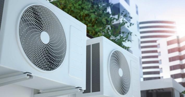 split type air condition in buildings