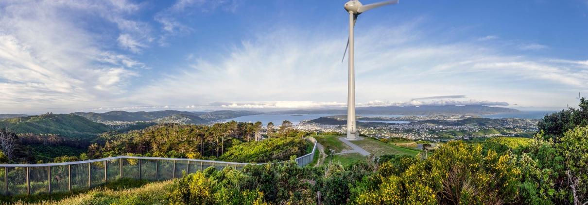 Brooklyn wind turbine in Wellington, New Zealand
