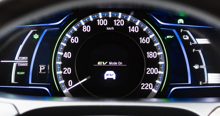 Electrical Vehicle Mode Turned On - On Hybrid Car Screen